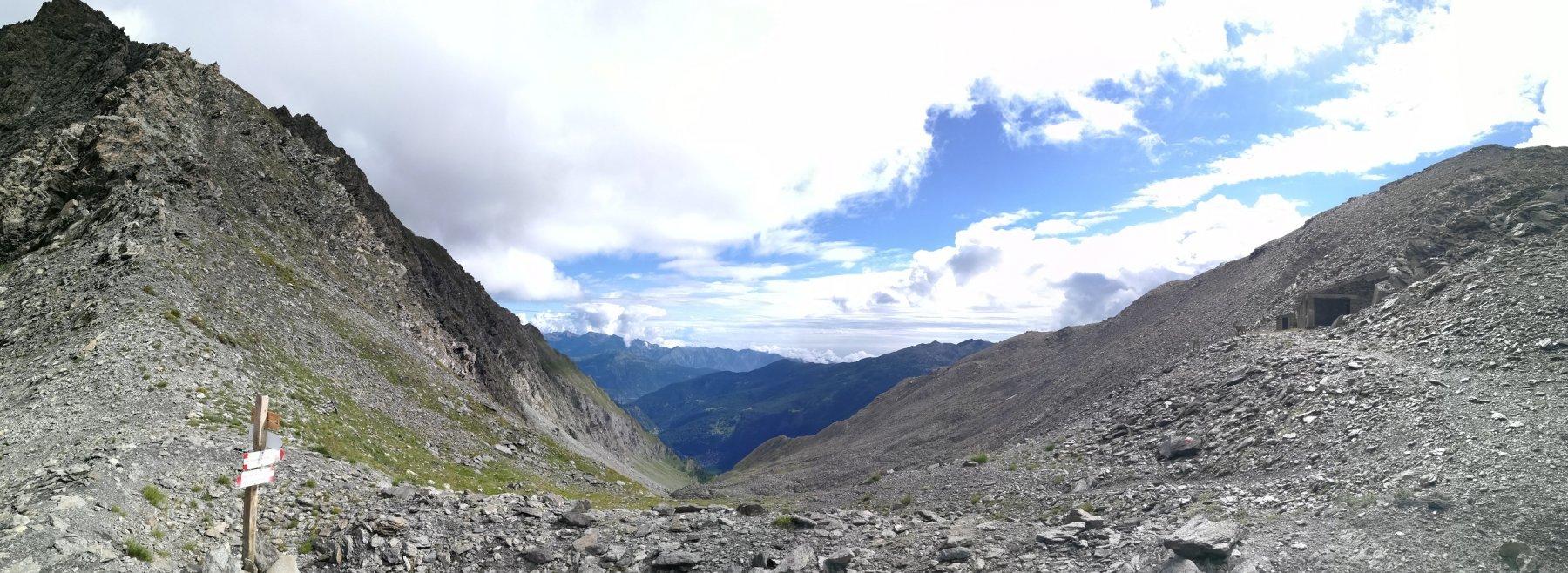 Panorama dal Passo della Longia verso Prali