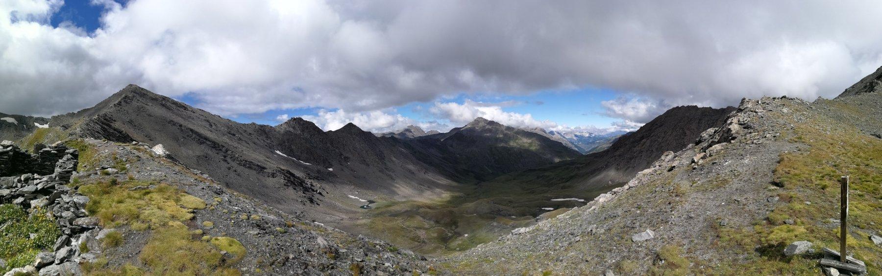 Alta Valle Argentera dal Passo Frappier