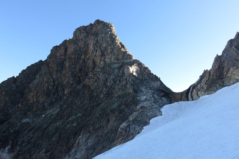 la cresta finale dal ghiacciaio