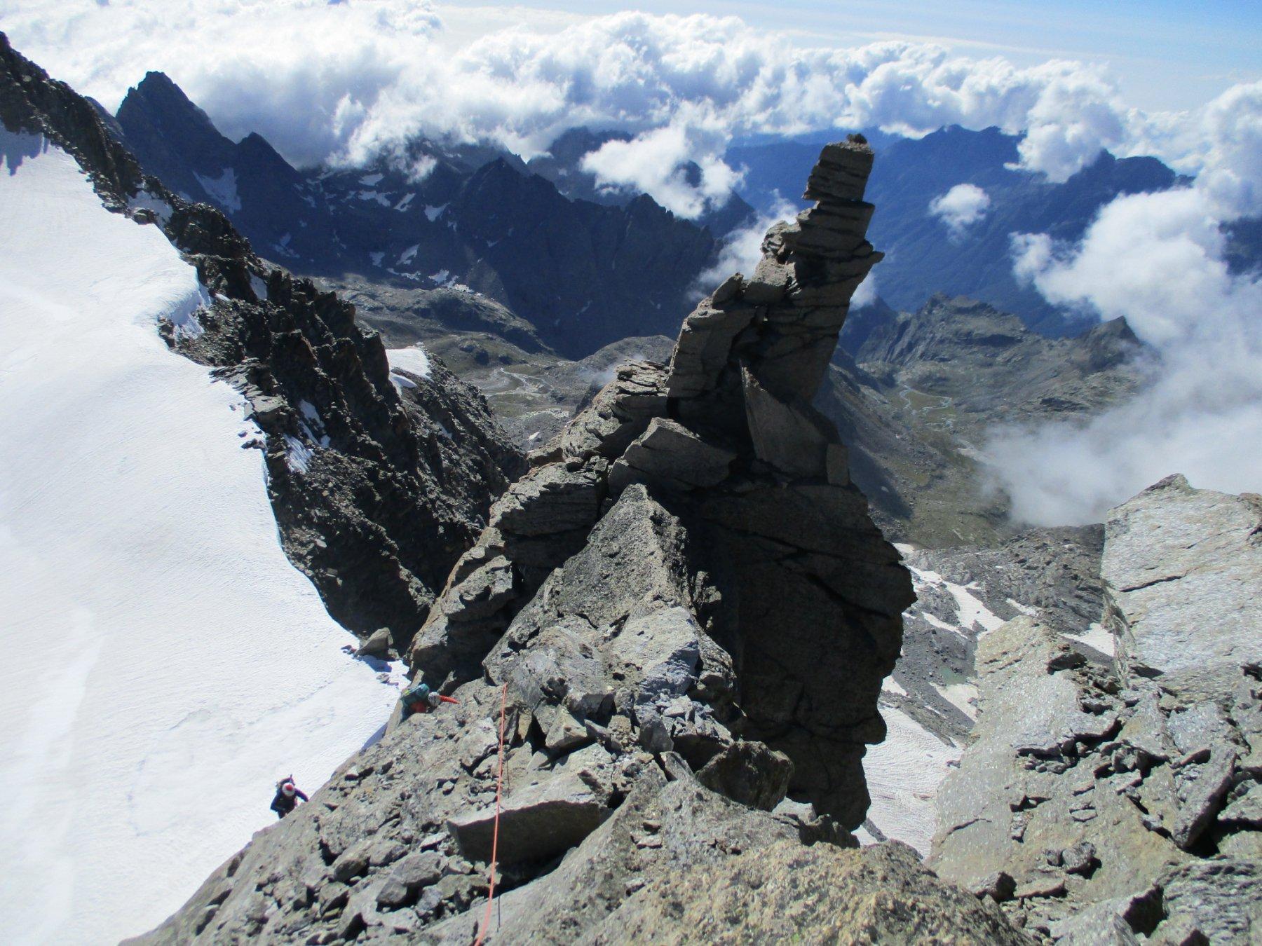 bella roccia sulla Gastaldi...
