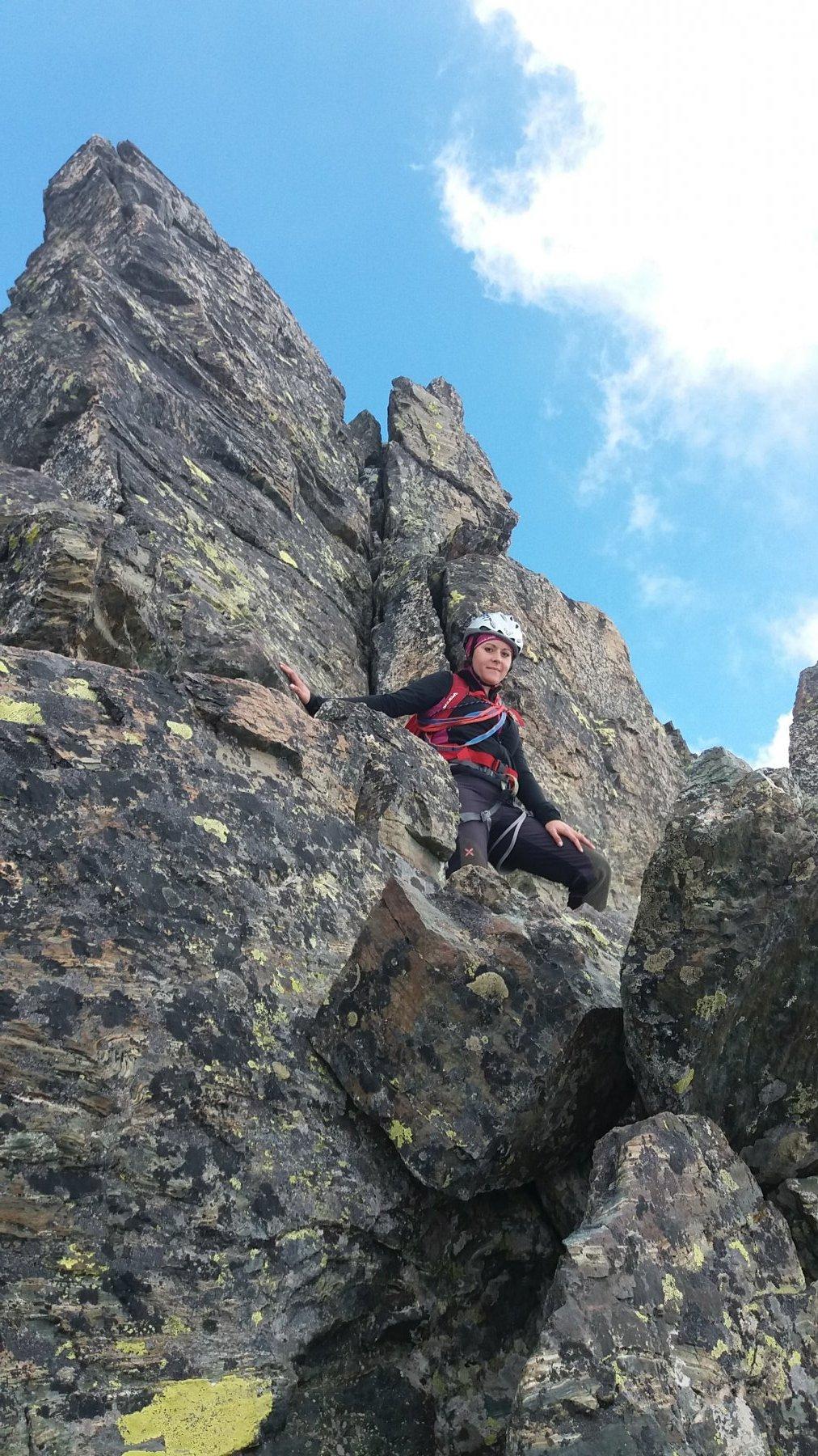 Tratti di facile e divertente arrampicata