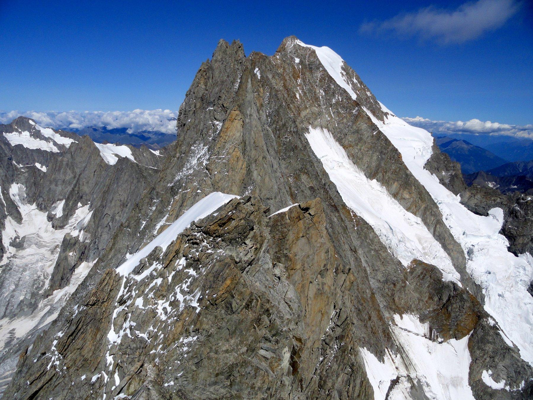 la parte di cresta verso la vetta