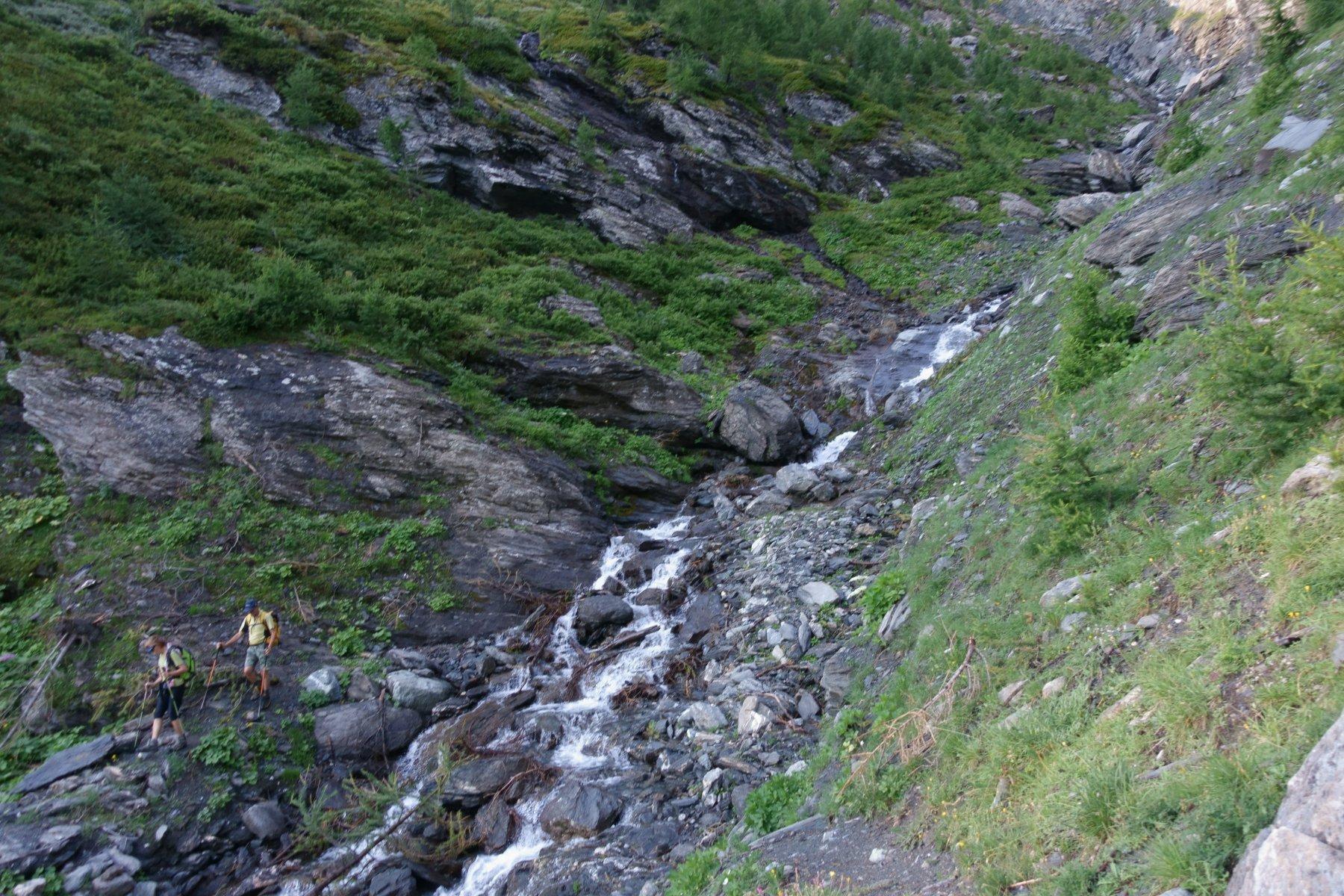 L'attraversamento del torrente