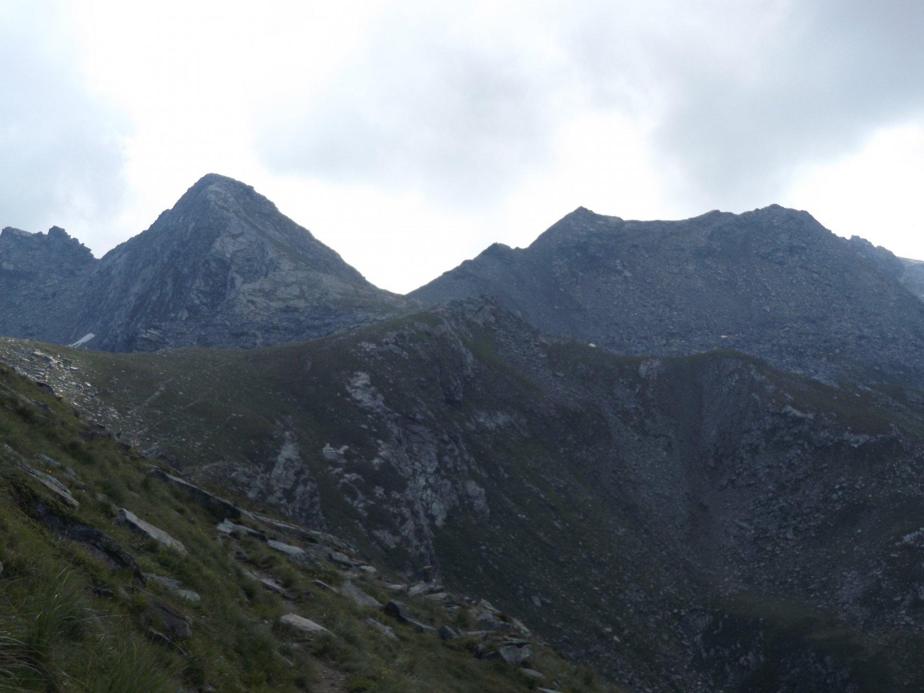 Cima Fouset a Sx - Colle Cialancia al centro - Cresta e P.ta Cialancia a Dx