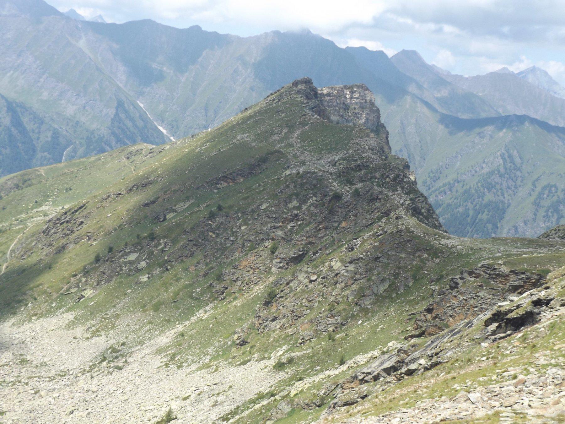 Cima Cappello d'Envie dalla cresta per il colle Cialancia