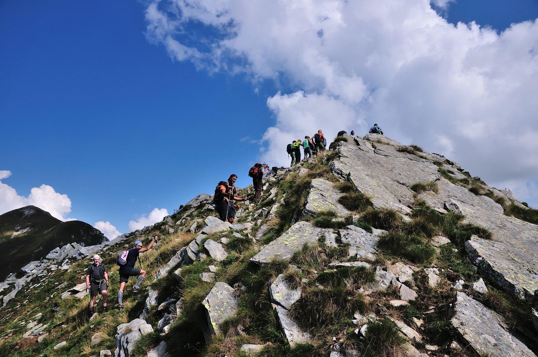 Verso la cima del Margineta