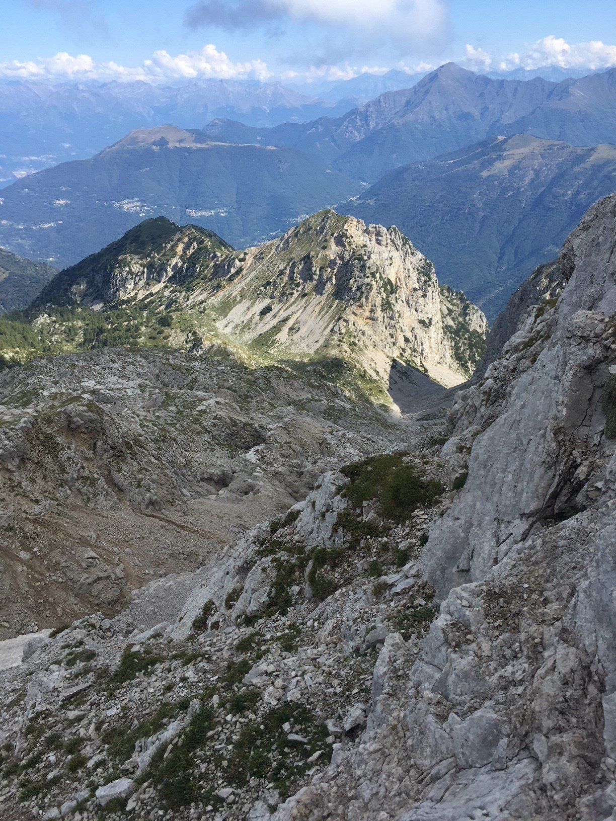 Grigna Settentrionale per la Val Cugnoletta e la via del Nevaio 2018-08-20
