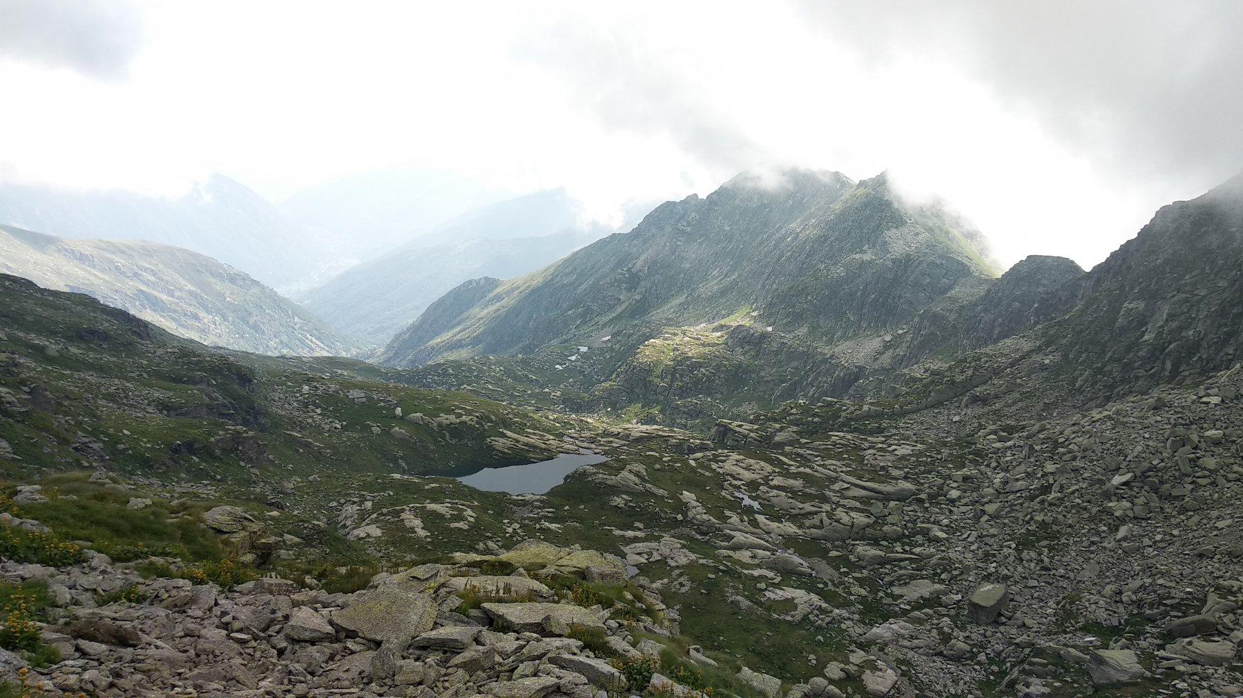 Il lago dal colle della Forca