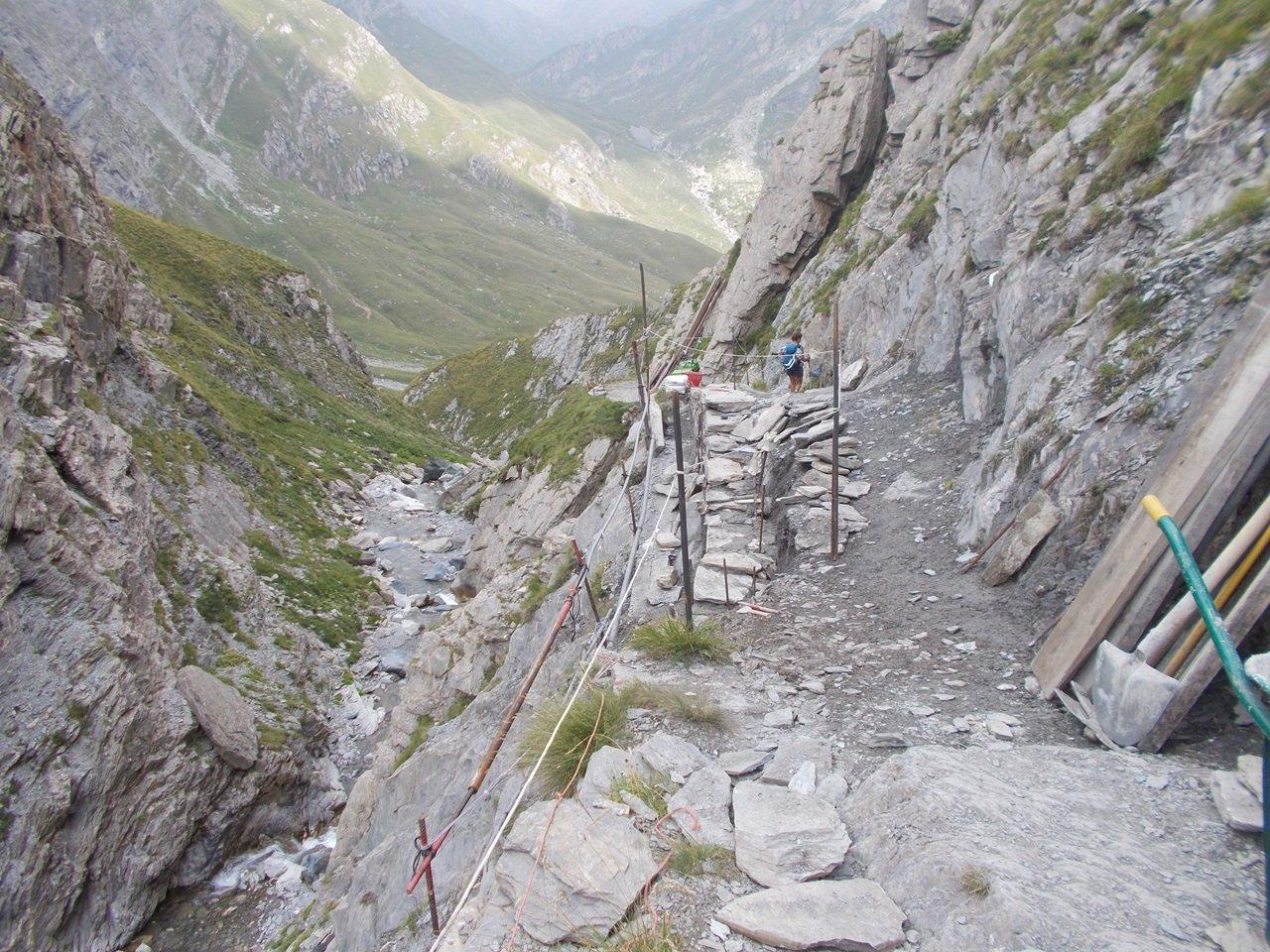 sistemazione del sentiero alle Barricate