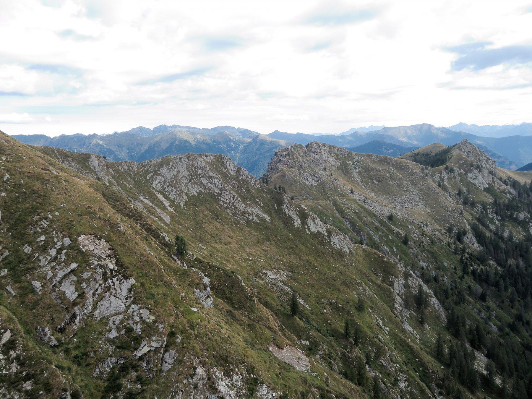Cresta Nord-Est e Cima di Caneto viste dalla cima dello Ziccher