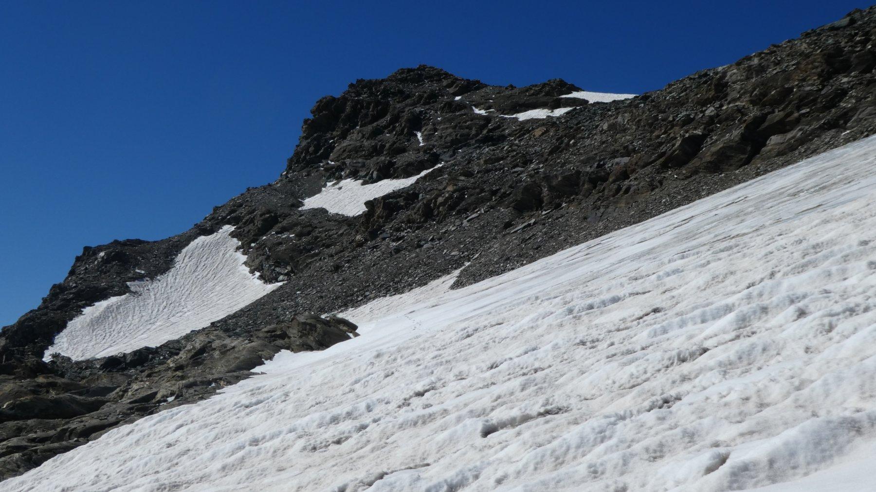la cresta finale che porta in vetta al Collerin