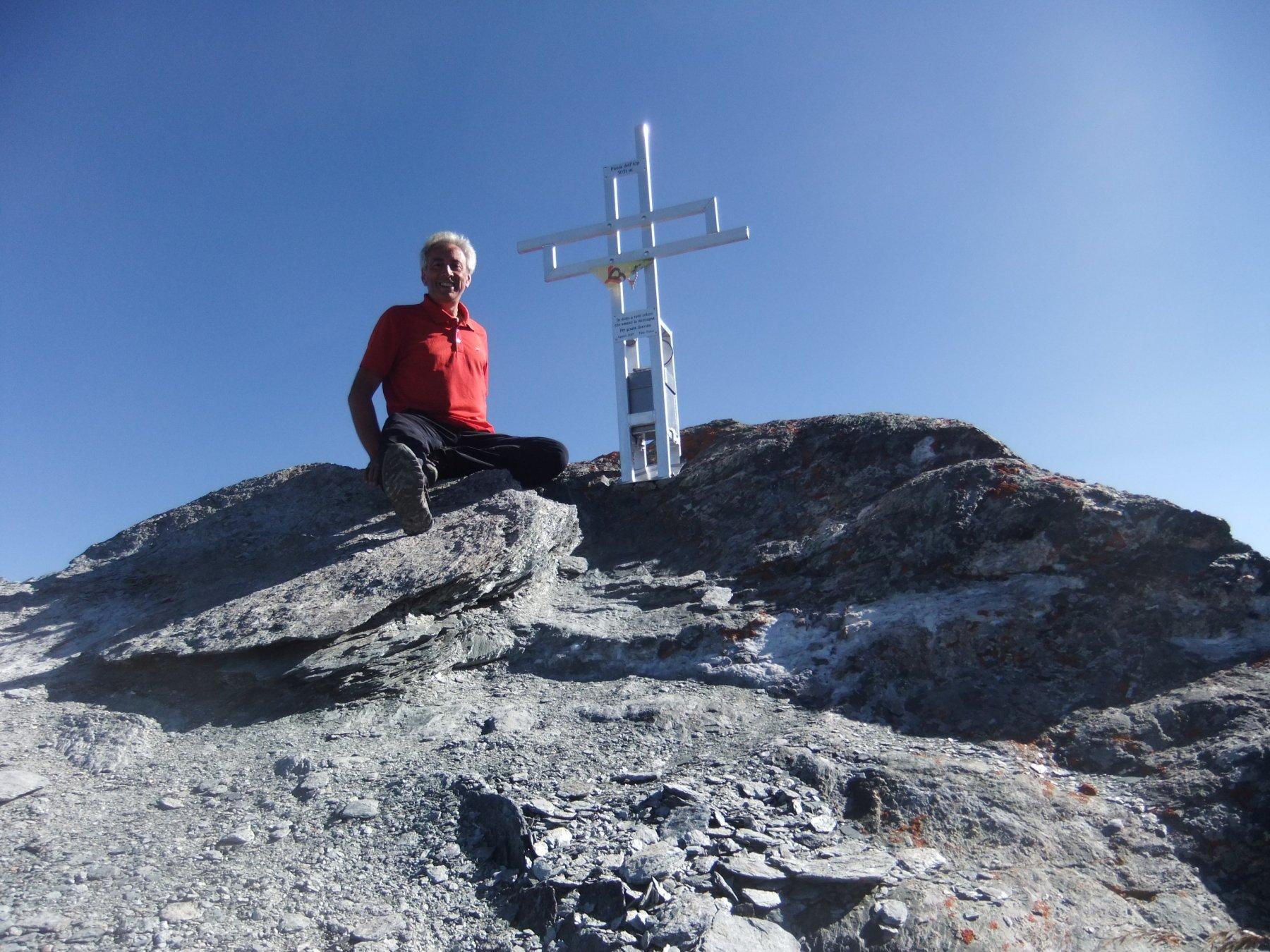 In vetta alla Punta del Alp