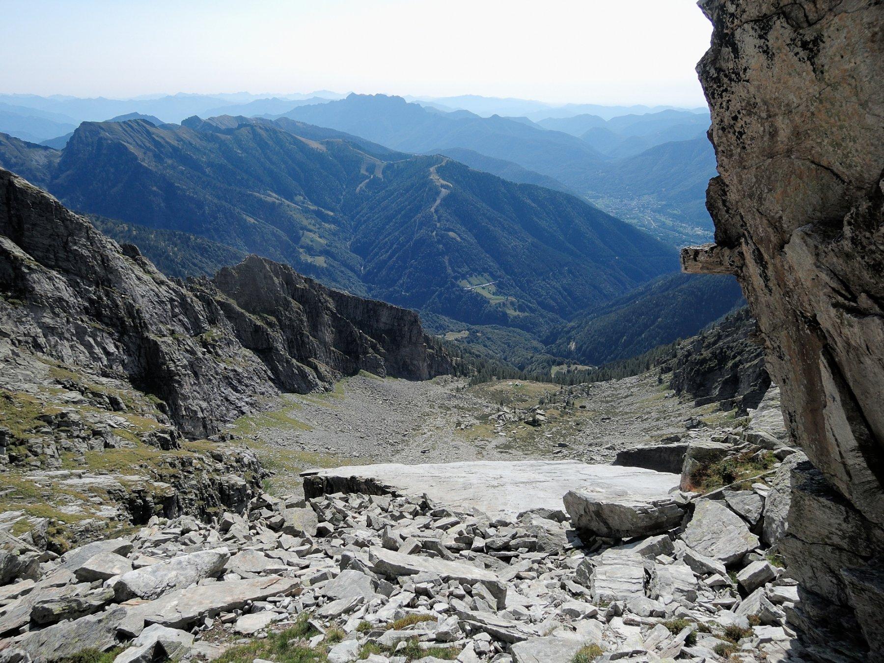 Dalla Finestra, vista sui Polmoni e sull'Alpe Forno