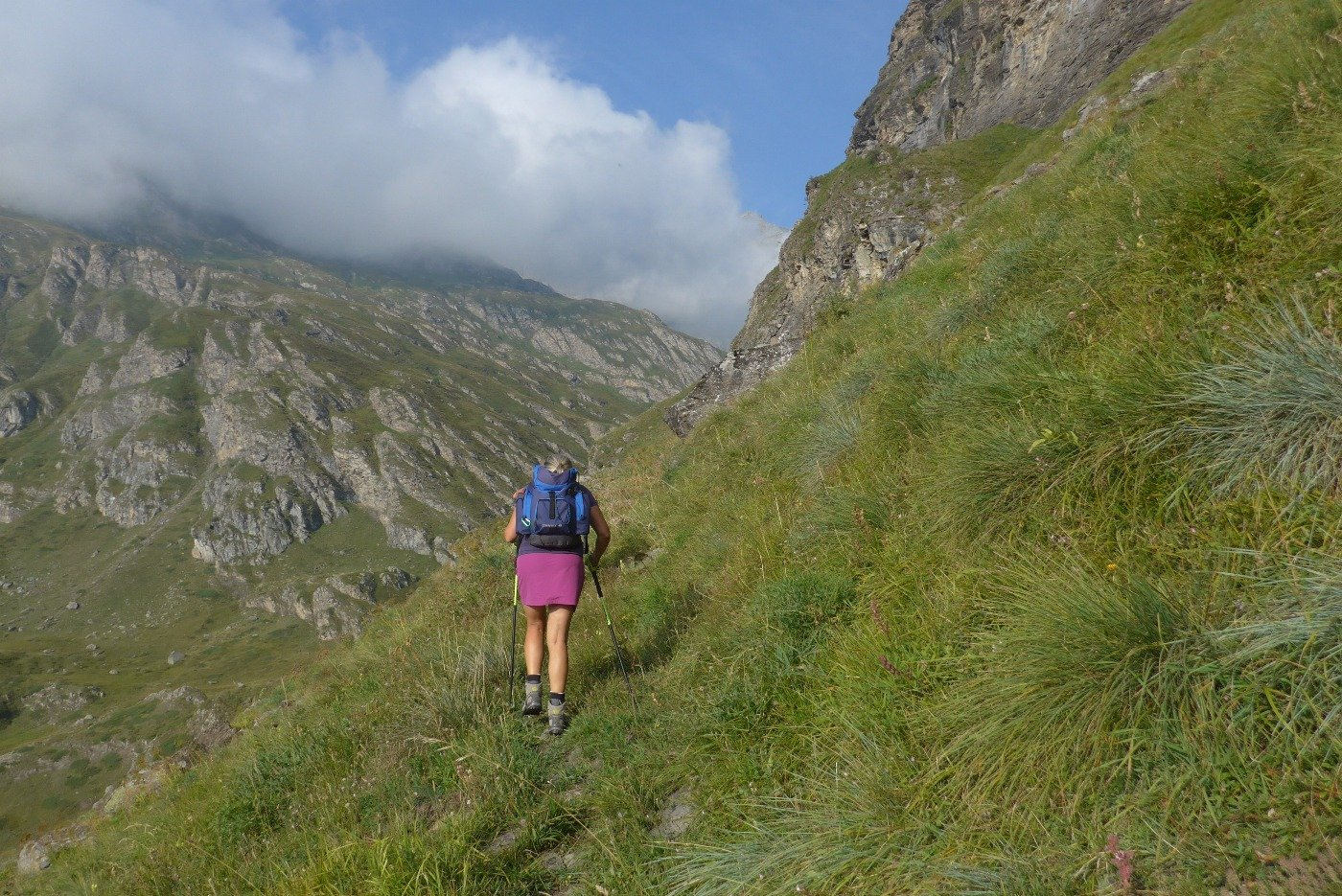 Sul vecchio sentiero verso il valllone delle Cavalle