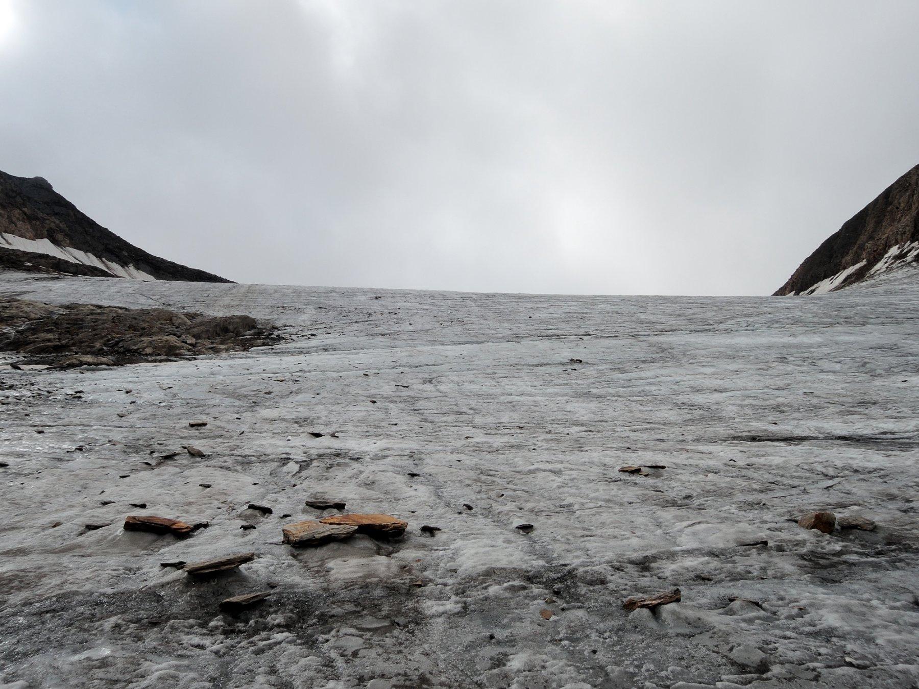 Tratto ripido del ghiacciaio verso il Passo del Mittelberg