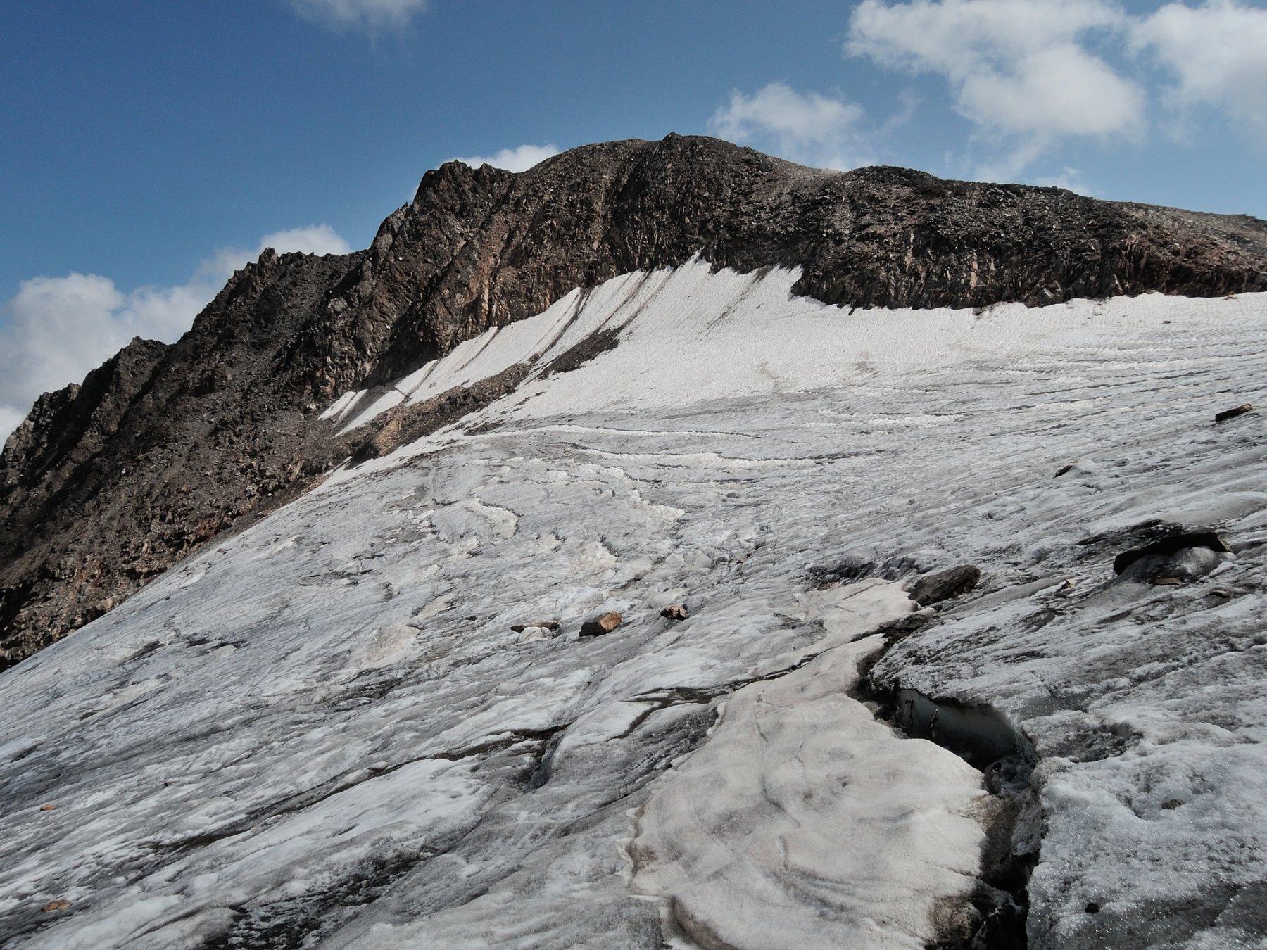 Crepacci nella parte alta del ghiacciaio