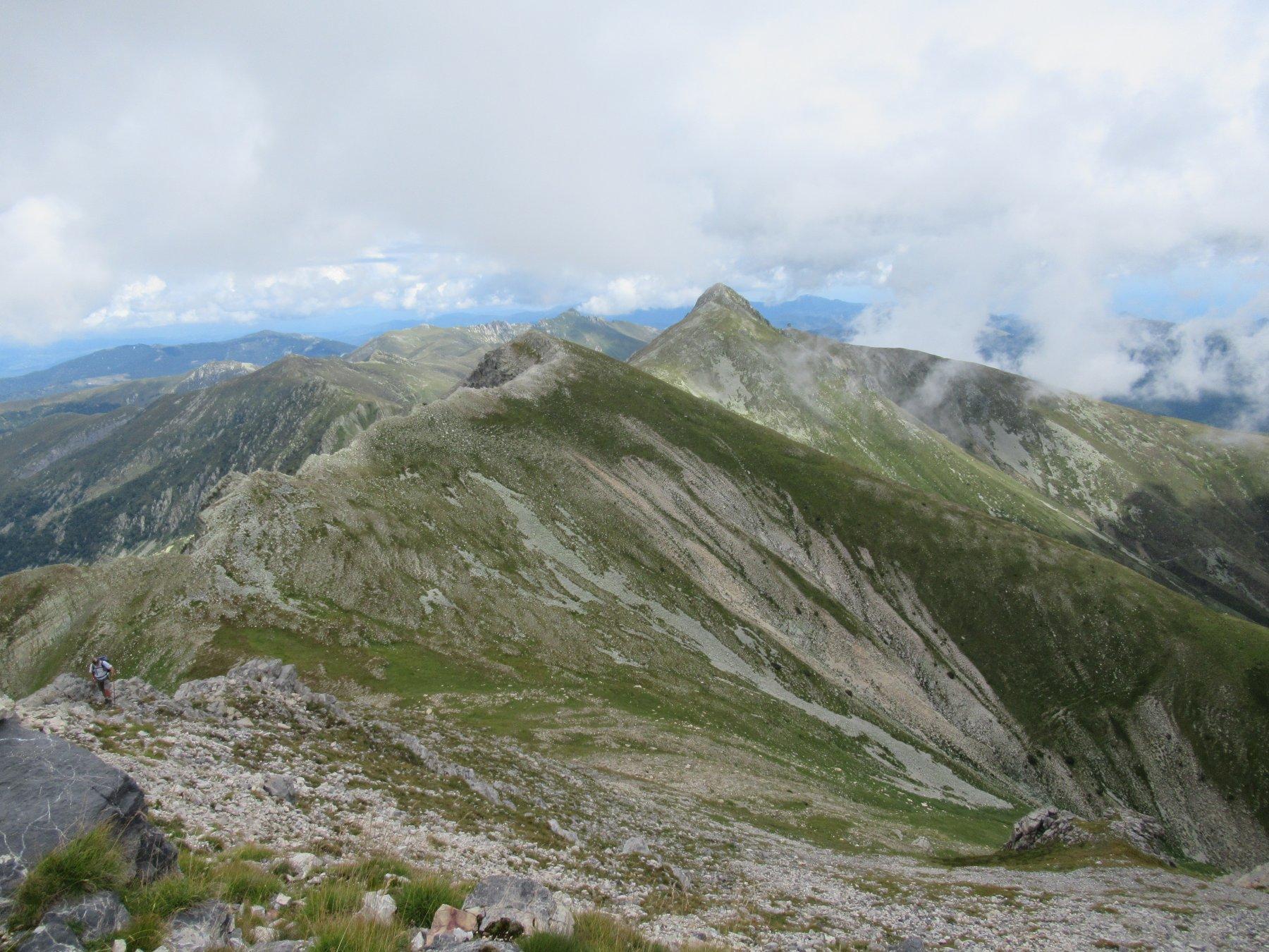 La cresta percorsa dal Bric Conoia.