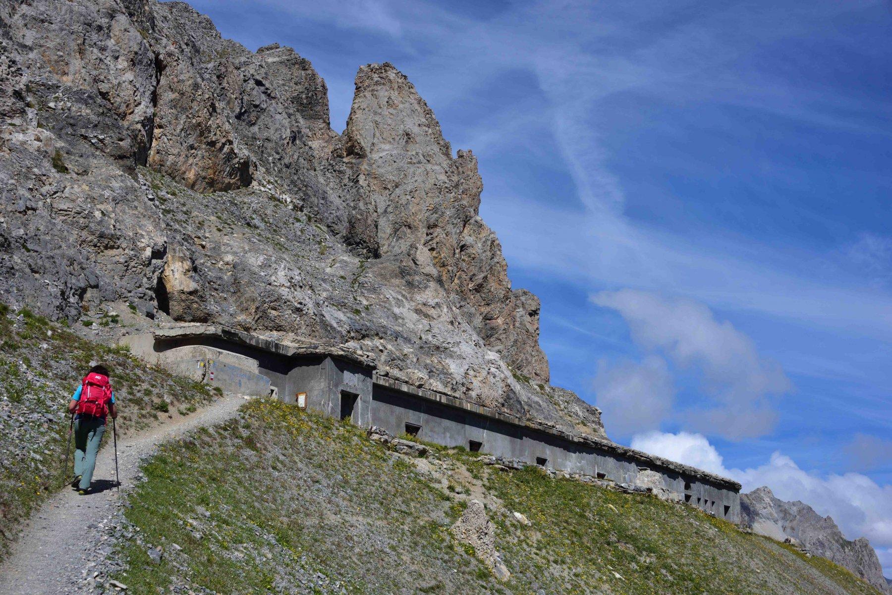 La casermetta sotto il Passo della Cavalla.