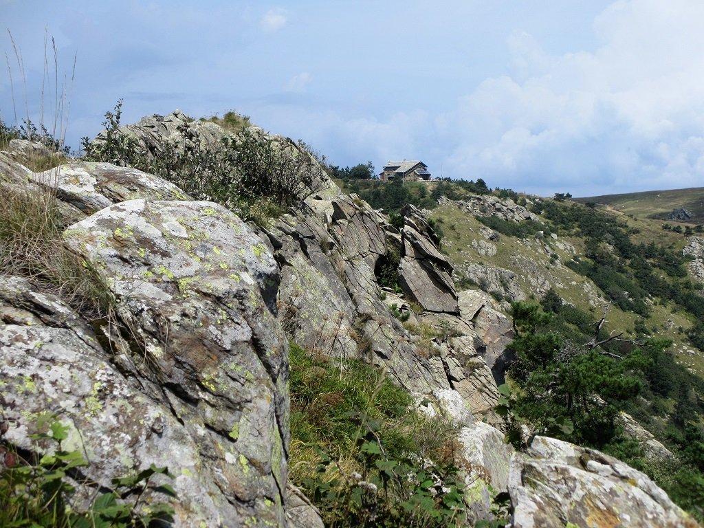 Rifugio Argentea visto dalla sua cima