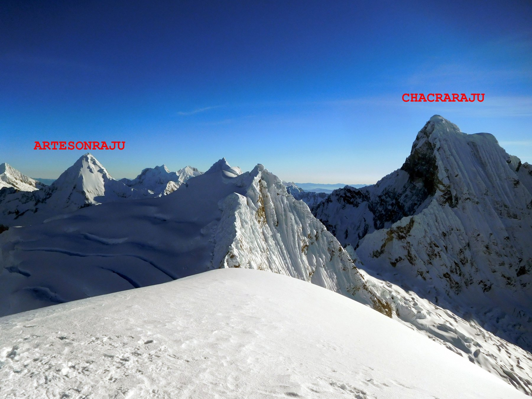 in cima al Nevado Pisco