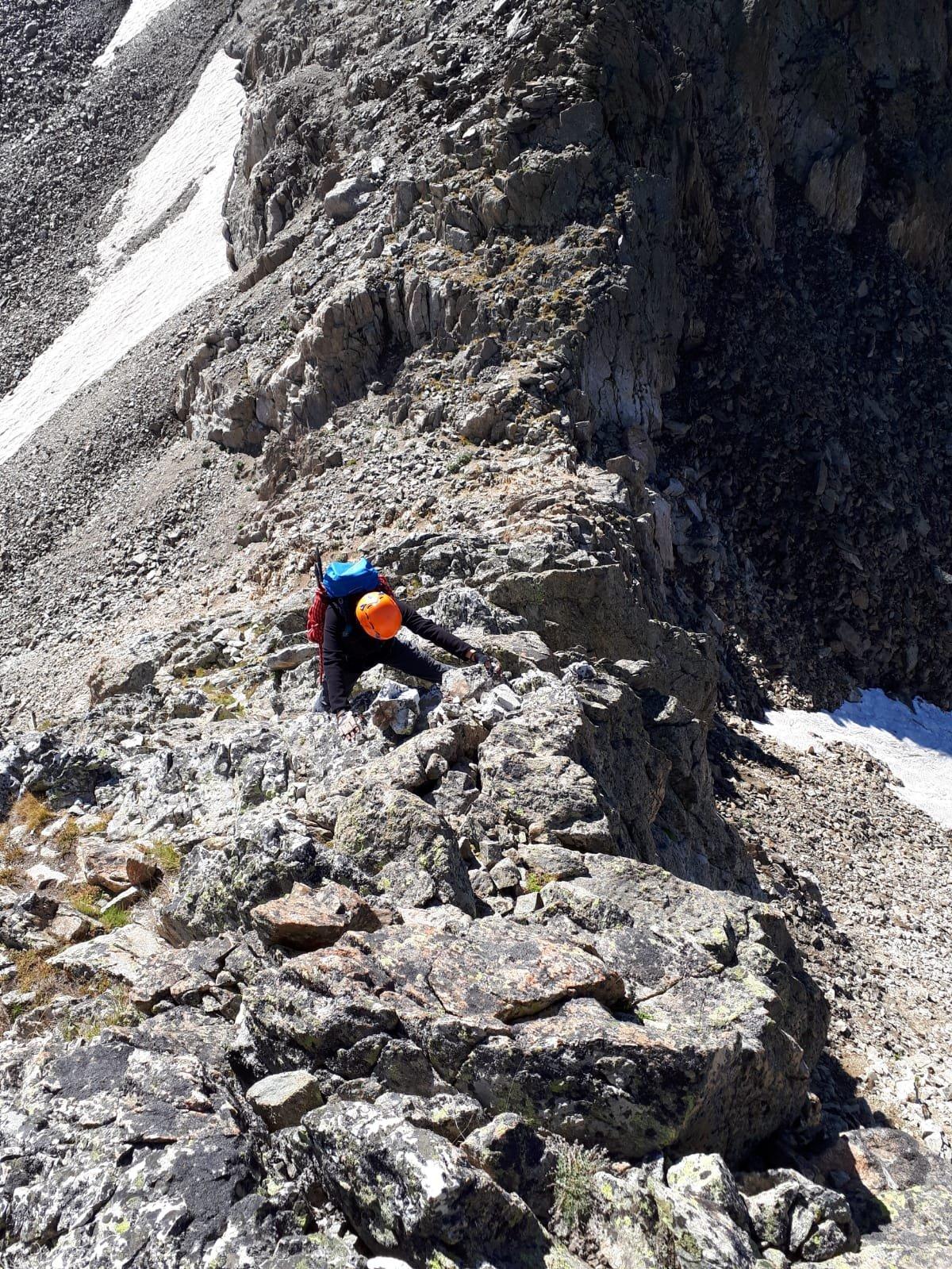 Il Passo del Brocan dalla cresta