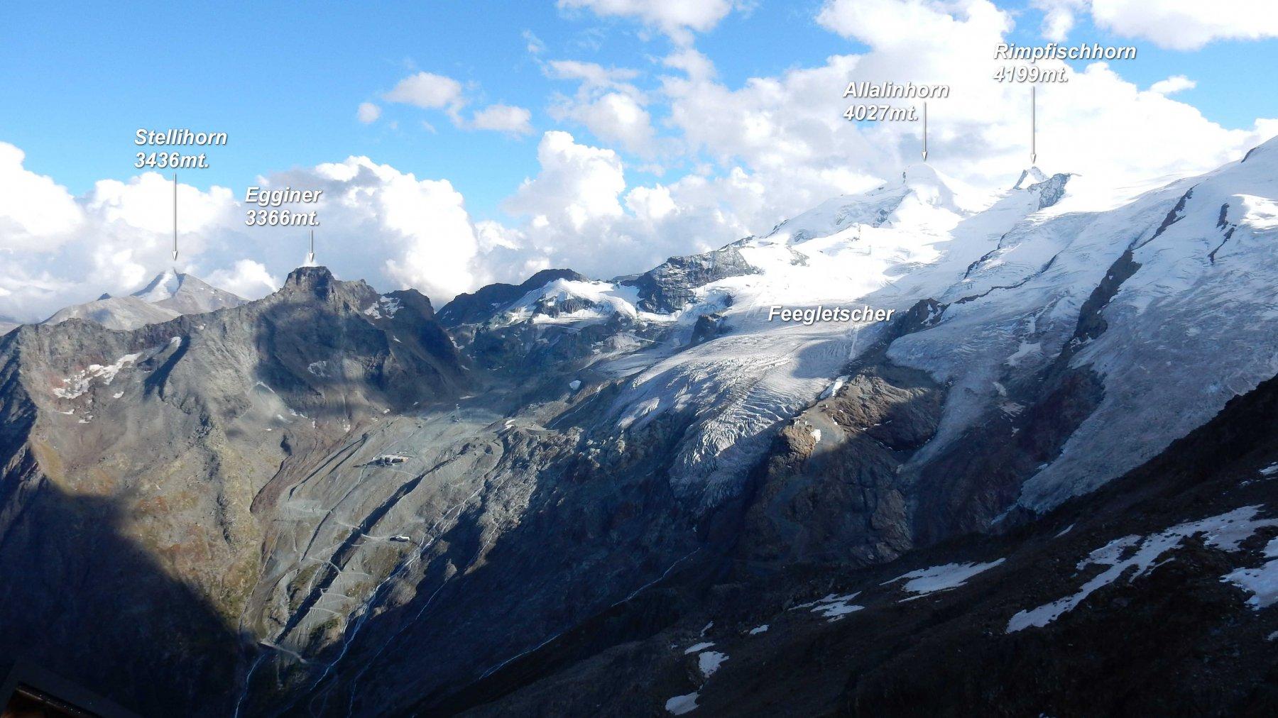 Panorama dalla Mischabelhutte 3340mt.