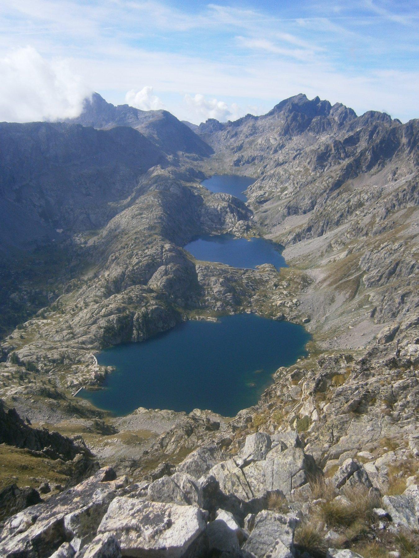 Scalinata di laghi in Valmasca