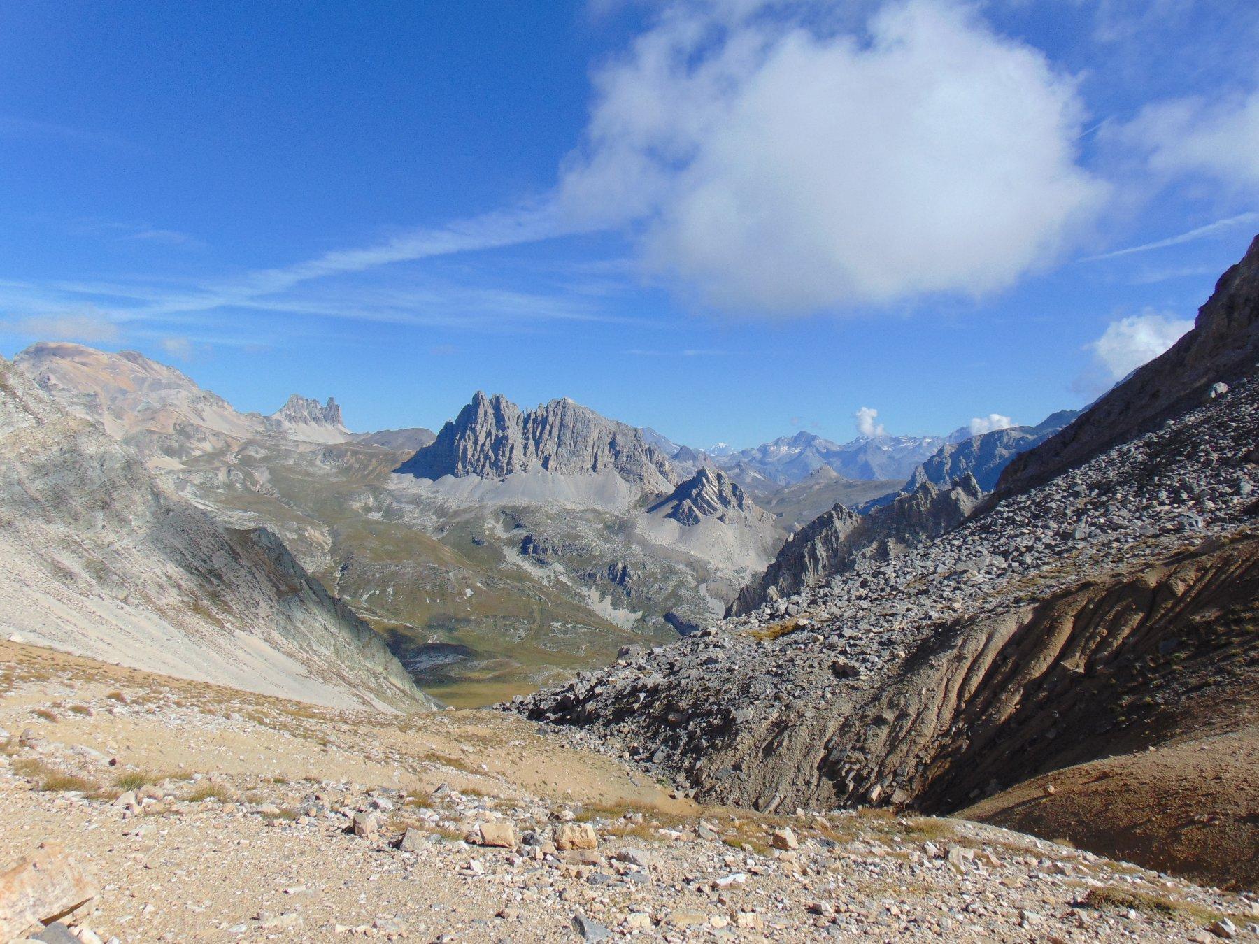 Salendo al col du Vallon vista su Thabor, Serous,Rocca e Dente della Bissorte