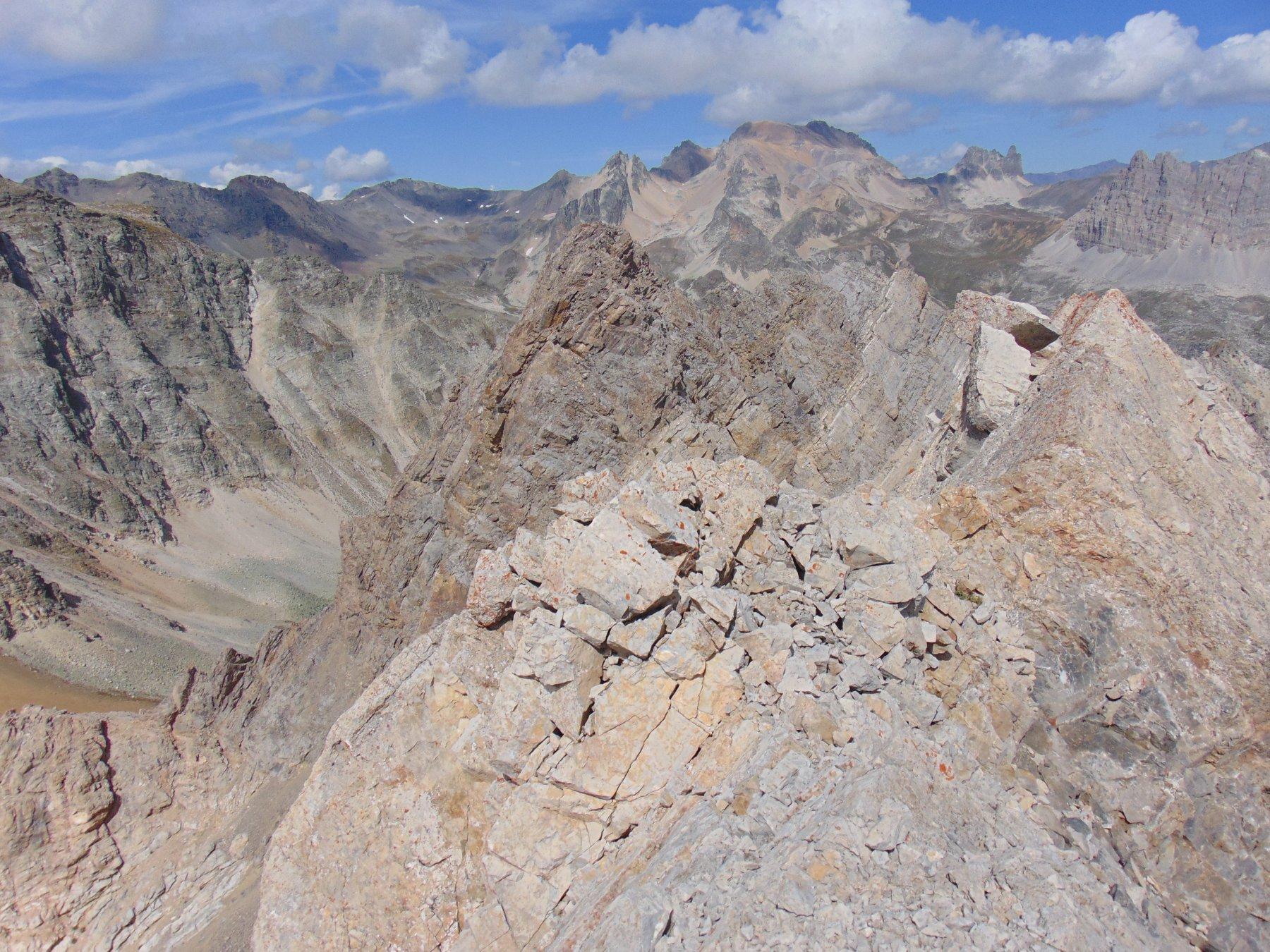 Punta Nord Ovest dell'Enfourant mt.2810, vista da punta Se
