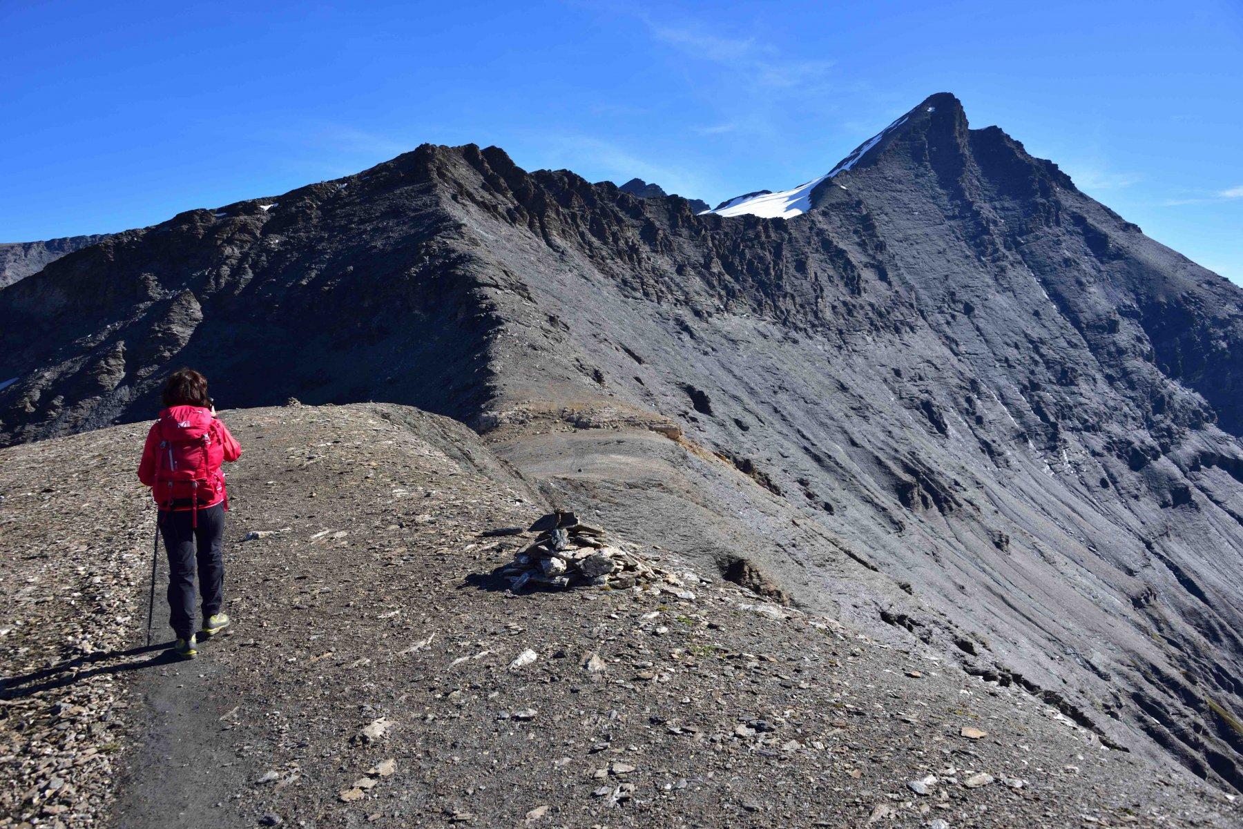 La cresta Ovest della Grande Sassiere dalla spalla q.3129.
