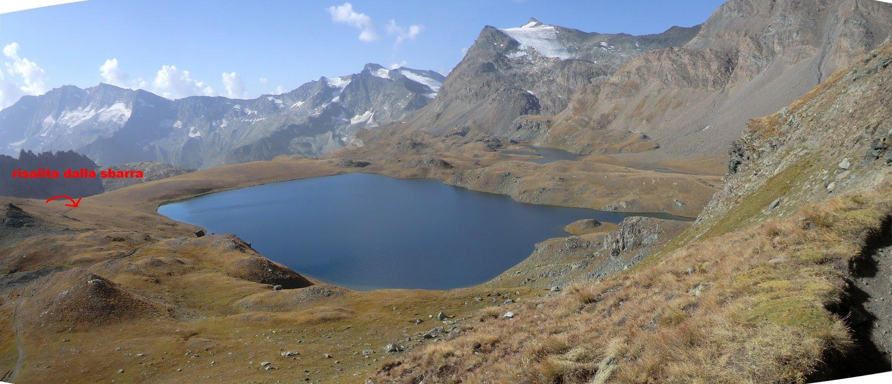 lago Rosset e ghiacciaio Basei