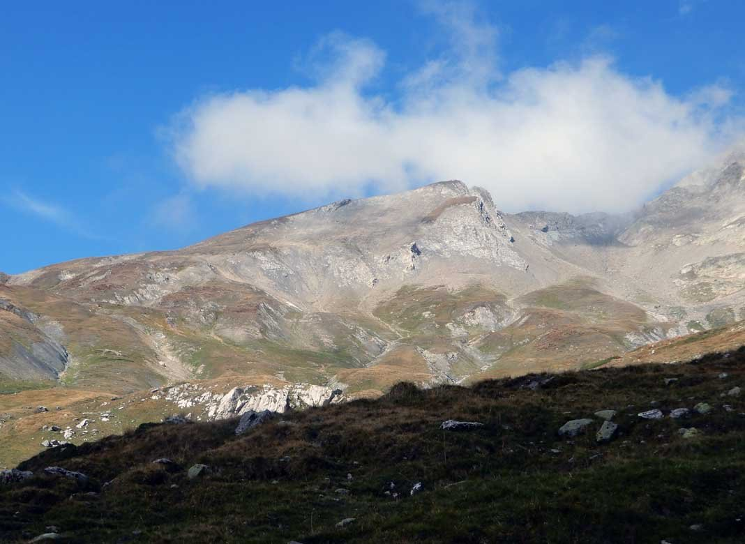 montagnes des glaciers dal percorso di salita