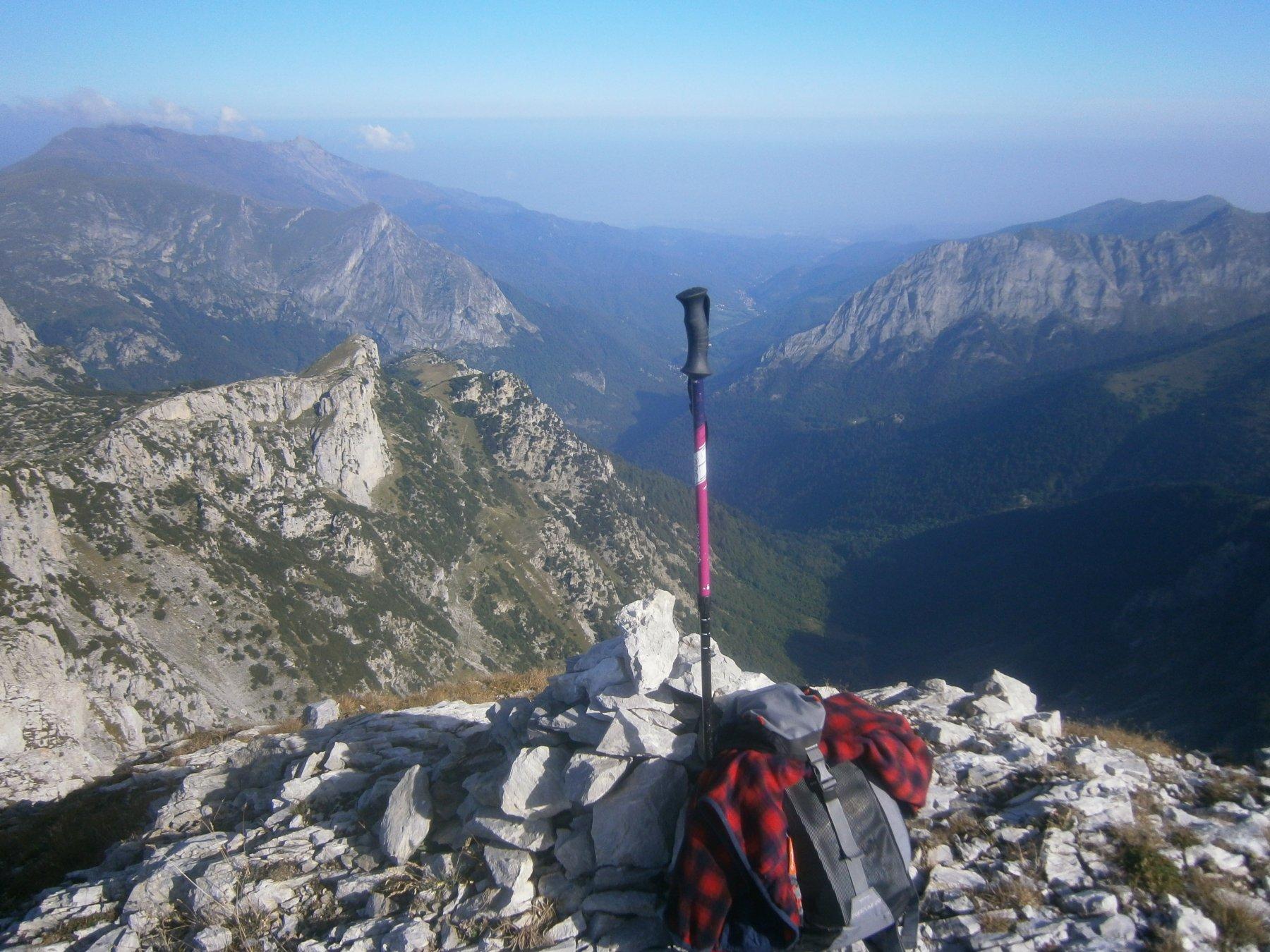 Valle Pesio dalla cima
