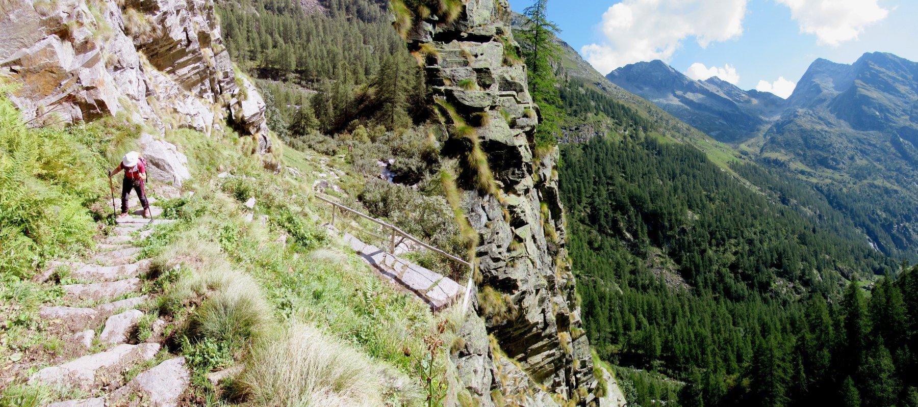 Tratto ripido prima dell'Alpe Bors