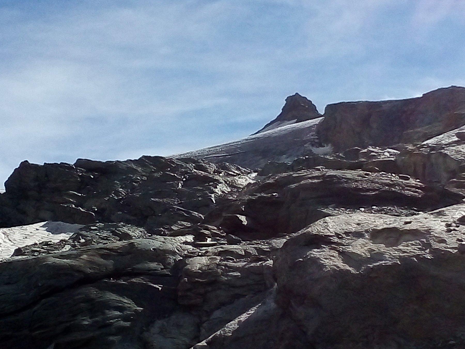 La cima poco prima dell'arrivo in cresta.