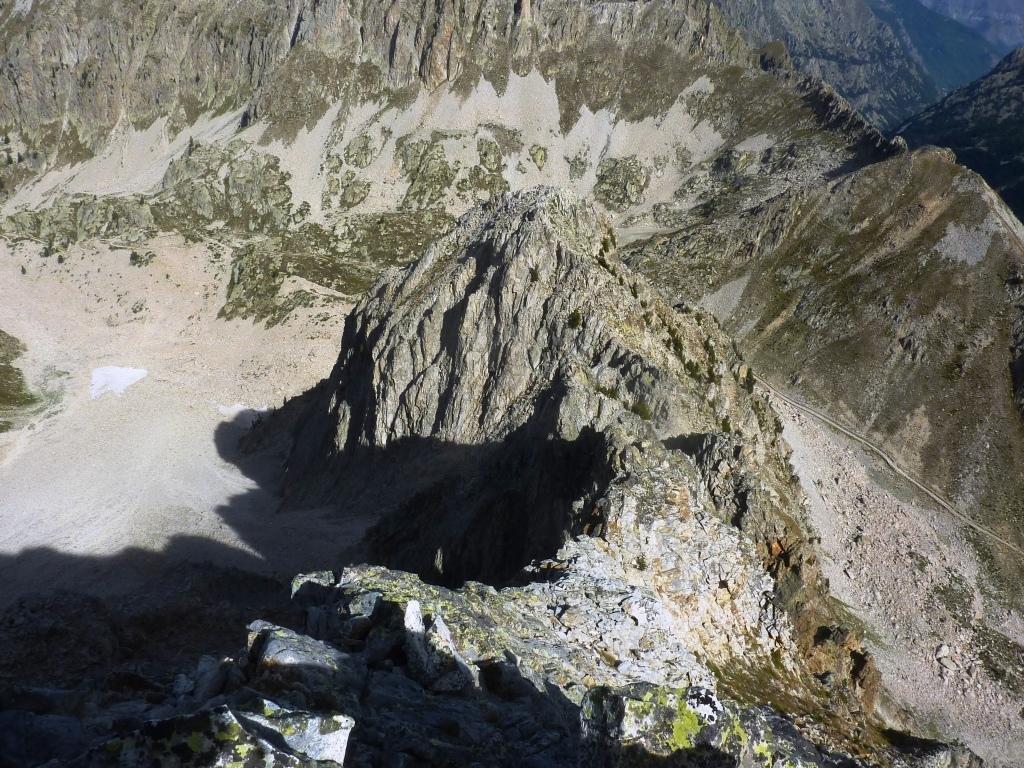 sguardo indietro dalla parte finale della cresta