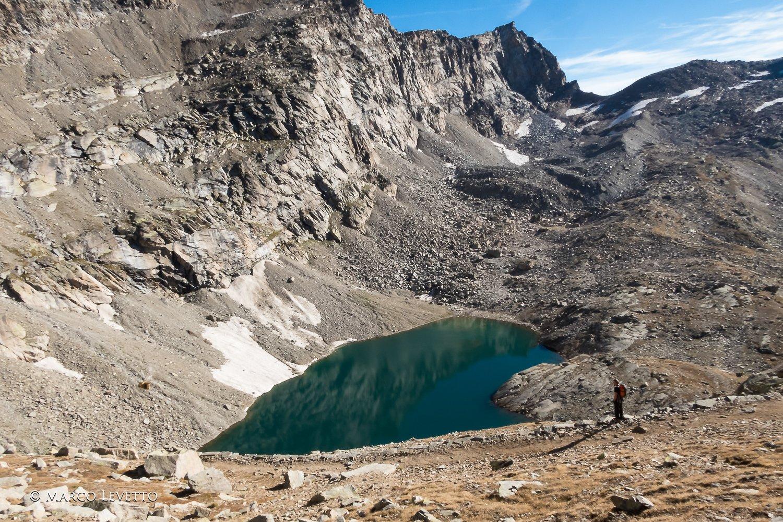 Lago Lillet, in fondo il Colle della Porta con il nostro sperone