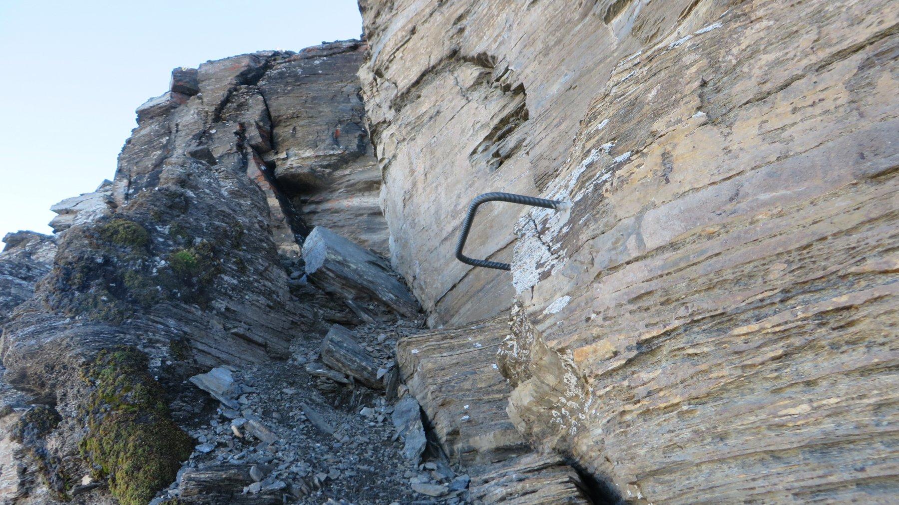 staffe per raggiungere la corda fissa