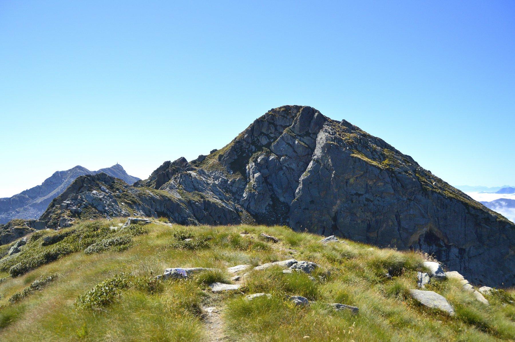 Il monte Bechit dall'anticima