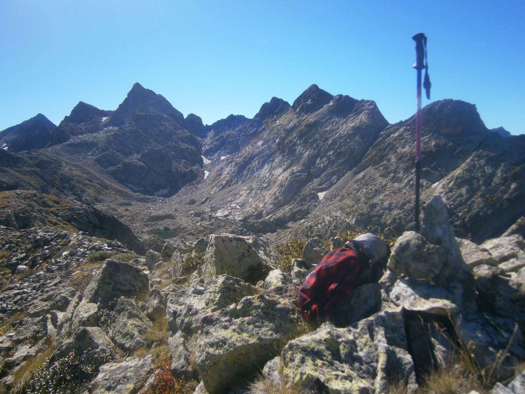 Dalla cima verso rocca La Paur