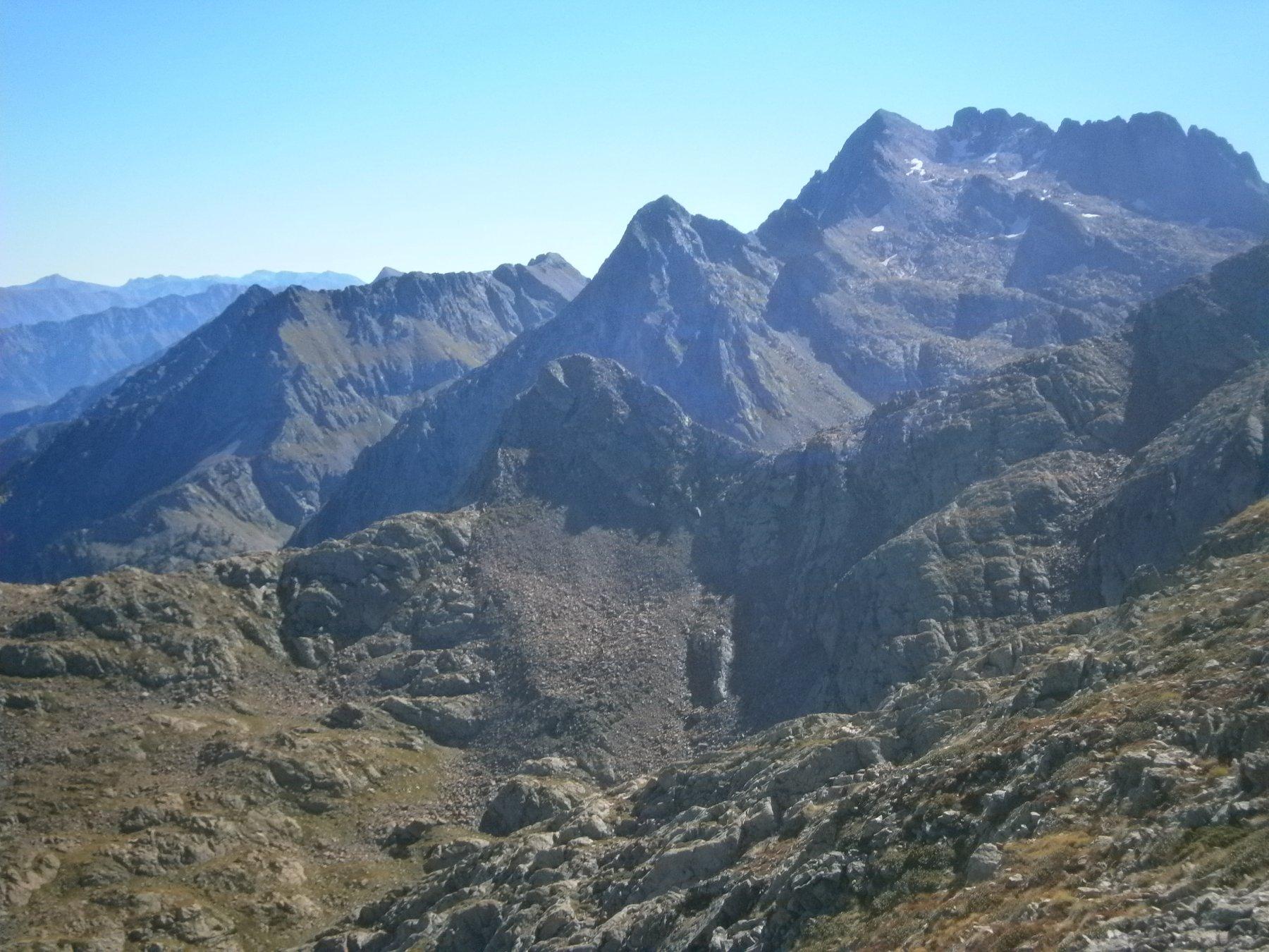 Punta della Sella, l'Innominata e monte Matto