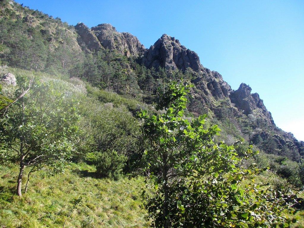 La cresta Segage e l'intaglio