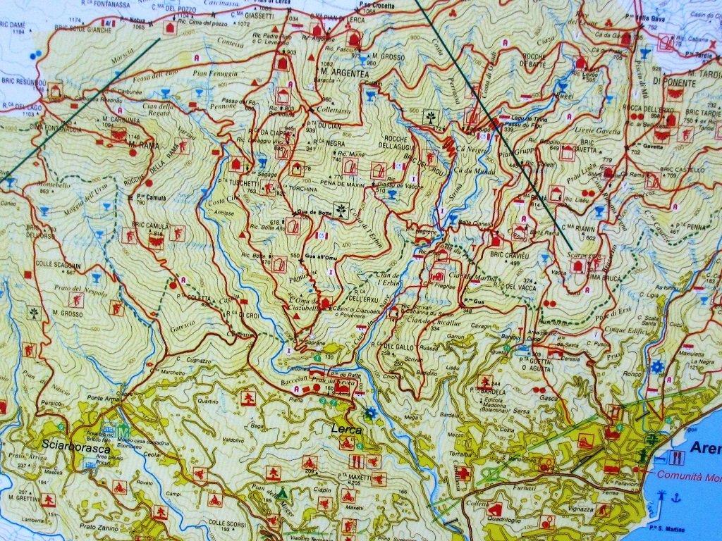 Cartina Comunità Montana Argentea
