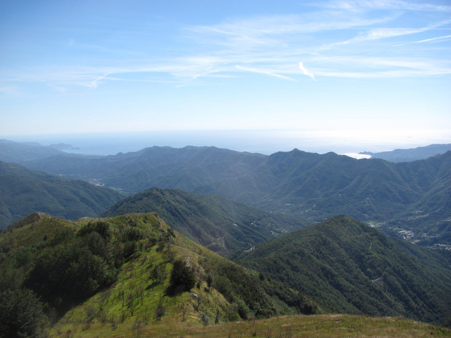 panorama da P.ta Manara a Portofino