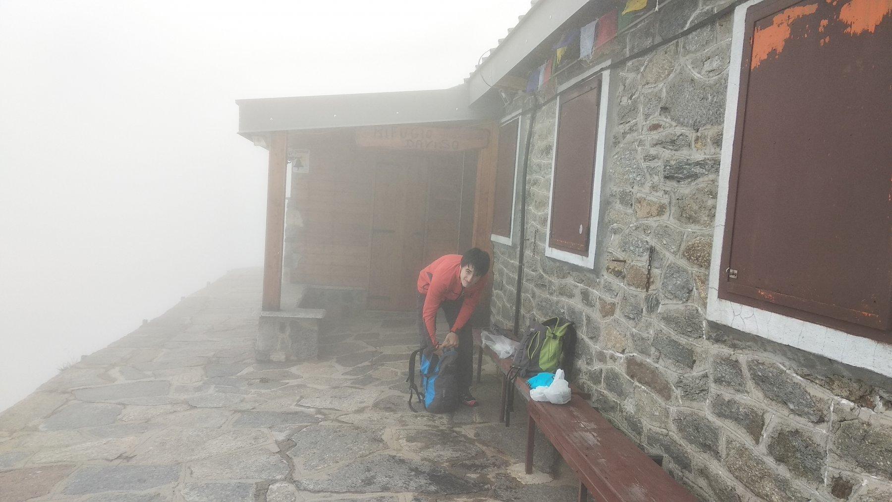 Oggi un Daviso nella nebbia