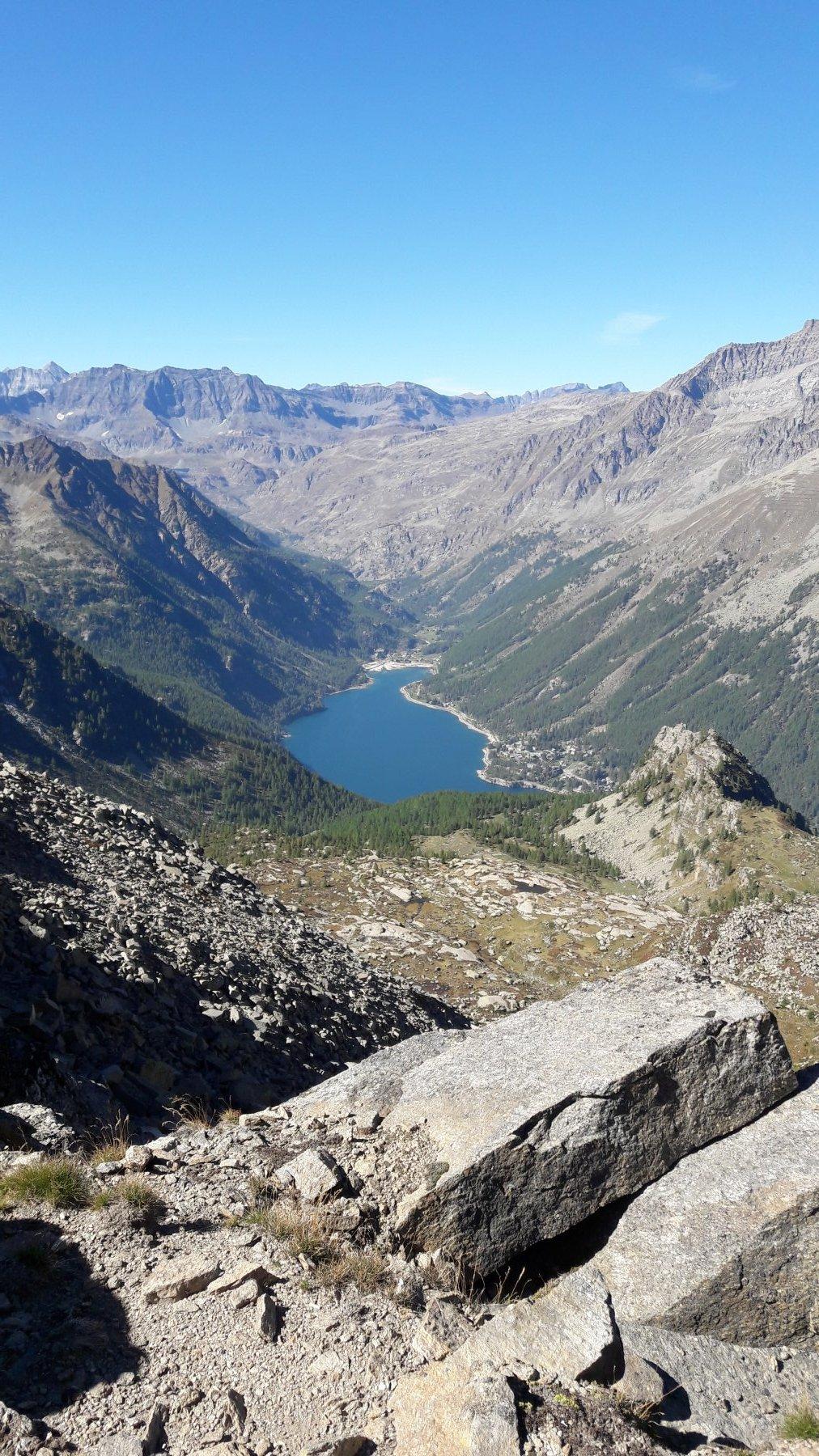 Lago di Ceresole e alta valle Orco dal colle della Crocetta