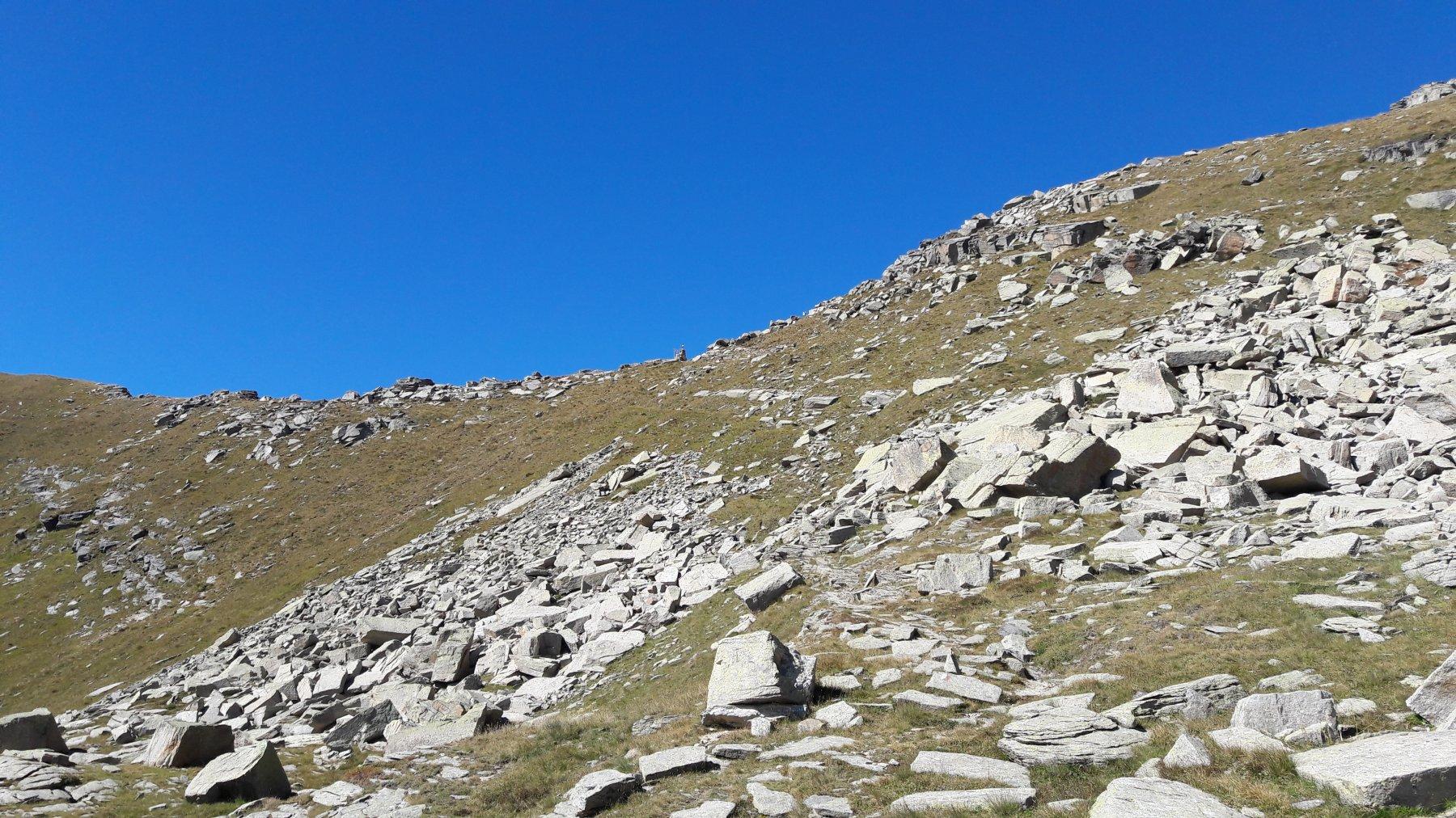 Colle della Crocetta dal lago Vercellina