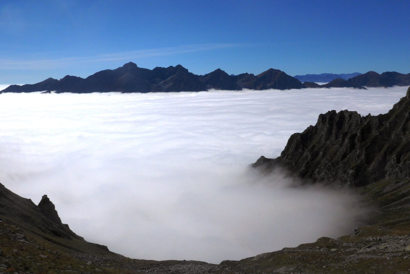 Sopra il mare di nuvole, la Lunella
