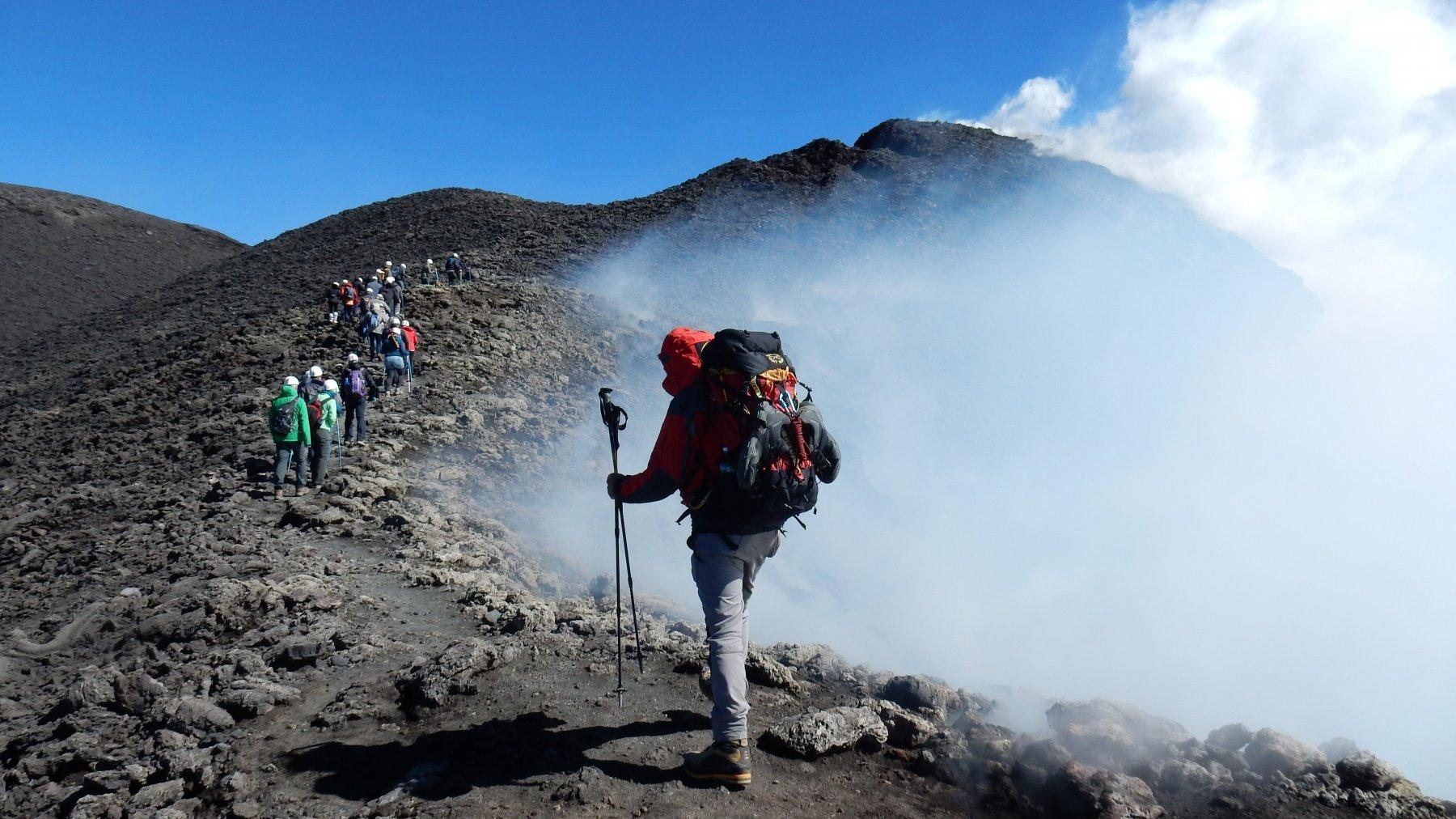 Etna, Crateri sommitali dal Rifugio Citelli 2018-09-30