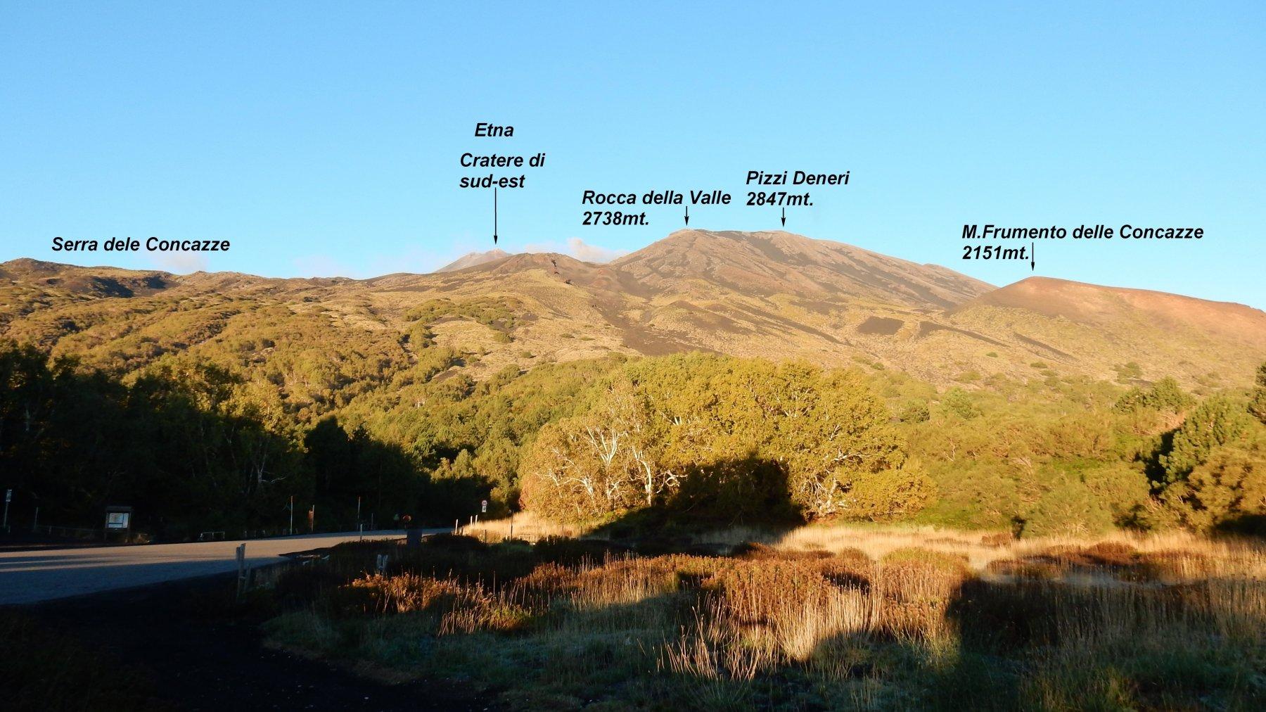 La vista dell'Etna dal Rif.Citelli.